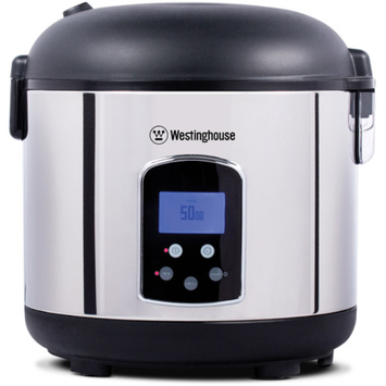 Westinghouse 20-Cup Rice Cooker, Stainless Steel