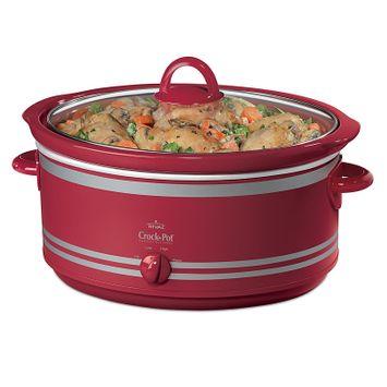Rival 7 qt. Stoneware Slow Cooker w/Bonus Travel Bag Red