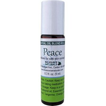 Peace Essential Oil Blend Roll on 9 Ml / 0.3 Oz Aromatherapy Support with pure essential oils Cedarwood, Orange, Patchouli, Tangerine, Ylang Ylang I.