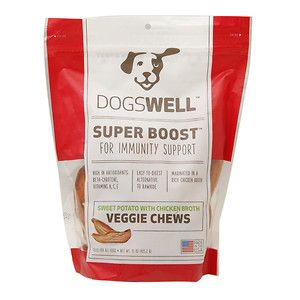 Phillips Feed & Pet Supply Dogswell Super Boost Veggie Sweet Potato Chicken Broth Chews 15oz