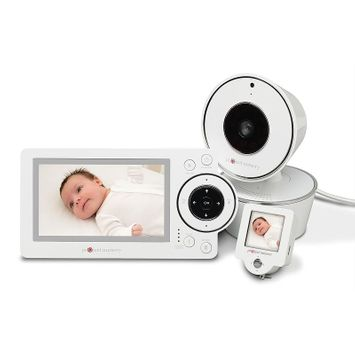 Audiovox Electronics Project Nursery Pan/Tilt/Zoom 4.3 inch Video Baby Monitor System with 1.5 inch Mini Monitor - PNM4W01