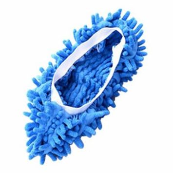 Chenille Micro Fiber Slipper Shoe Cover Slippers Mop Floor Dust Cleaning Tools