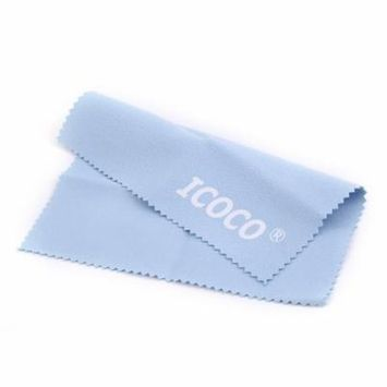 ICOCO Soft Eyeglasses Cleaning Cloth Dual Surface Velvet Sunglasses Camera Duster Cloth Glasses Cleaning Accessory light blue