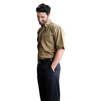 Mens Teflon Treated Short Sleeve Twill