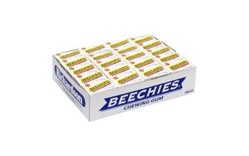 Beechies Peppermint Gum, Pack Of 100 Boxes
