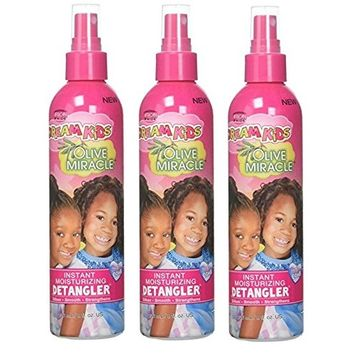 [PACK OF 3] AFRICAN PRIDE DREAM KID OLIVE MIRACLE INSTANT MOISTURE DETANGLER 8oz: Beauty