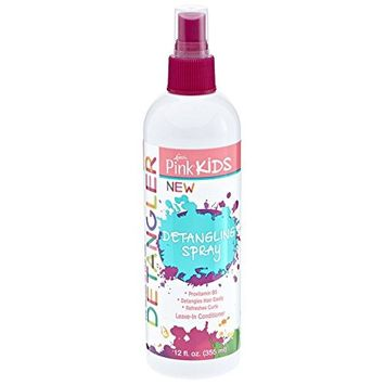 LUSTER'S PINK KIDS DETANGLER SPRAY 12 OZ Refreshes curls