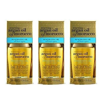 [Value Pack od 3] OGX Renewing Penetrating Argan Oil of Morocco, for all hair type, 3.3oz : Beauty