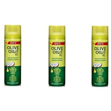 PACK OF 3] ORS OLIVE OIL NOURISHING SHEEN SPRAY INFUSE COCONUT OIL 11.7oz : Beauty