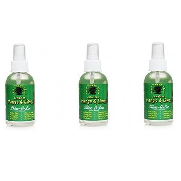[VALUE PACK OF 3] JAMAICAN MANGO & LIME SHINE - A - LOC 4 Oz: Beauty