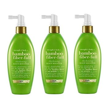 [Value Pack of 3] OGX Strength & Body Bamboo Fiber-Full Thickening Root Booster, 6 fl oz : Beauty