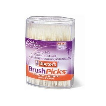 Dental Concepts The Doctor's BrushPicks Toothpicks, 250 Picks (Pack of 12)