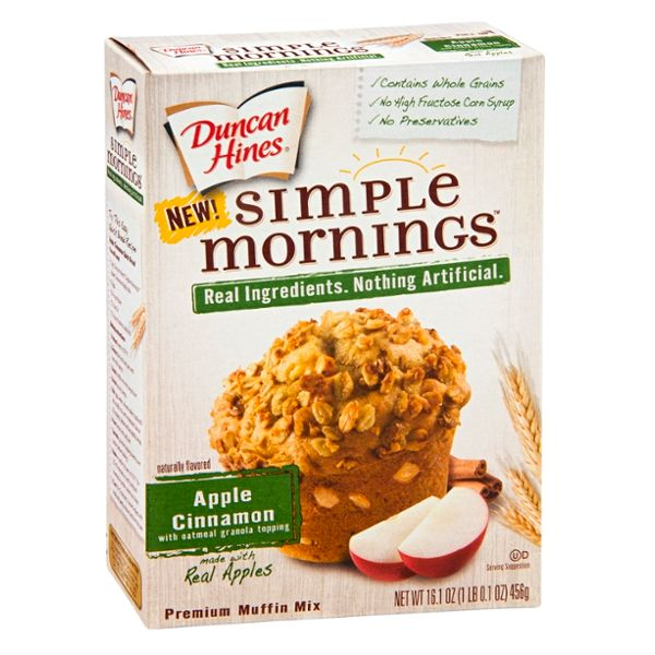 Duncan Hines Simple Mornings Premium Muffin Mix Apple Cinnamon