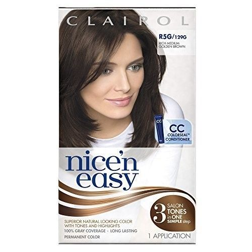 Clairol Nice 'n Easy R5G 129G Rich Medium Golden Brown 1 Kit (Pack of 12) by Clairol