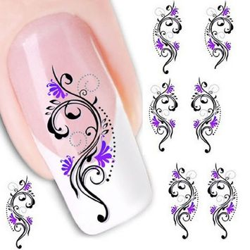 Sandistore Fashionable Water Transfer Slide Decal Sticker Nail (XF1423)