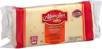 Alpine Lace® 25% Reduced Fat Sandwich Size Swiss Cheese