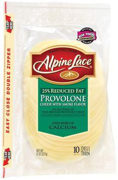 Alpine Lace® Provolone W/Smoke Flavor Reduced Fat Slices Deli Cheese