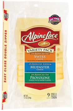 Alpine Lace® Variety Pack Swiss/Muenster/Provolone 9 Slices Deli Cheese