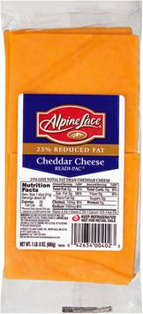 Alpine Lace® 25% Reduced Fat Cheddar Cheese Slices