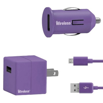 Just Wireless Mobile Phone Battery Charger - Purple (24003)