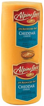 Alpine Lace® Cheddar Reduced Fat Yellow Deli Cheese 1 Ct Brick