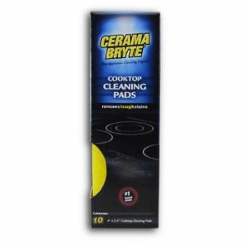 Cerama Bryte - Ceramic Cooktop Cleaning Pads, Great on Stubborn Stains - 10-Pack