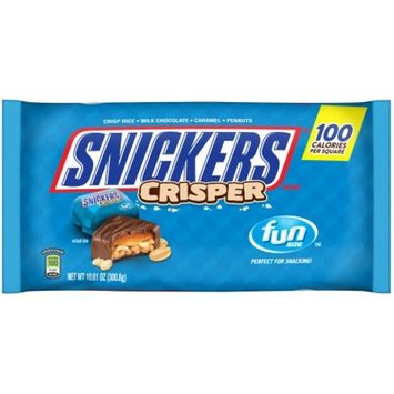 SNICKERS Crisper Fun Size Chocolate Bars Candy Bag, 10.61 oz