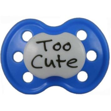 BooginHead Pacifier, Too Cute Dark Blue (Discontinued by Manufacturer)