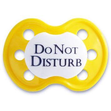 BooginHead Do No Disturb Yellow Pacifier