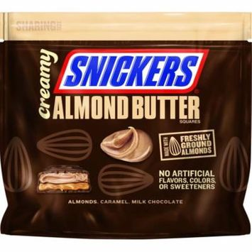 Snickers, Creamy Almond Butter Fun Size Chocolate Candy Squares, 7.7 Oz