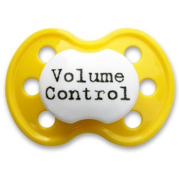 BooginHead Pacifier, Volume Control Yellow