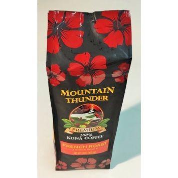 100% Kona Coffee, PREMIUM French Roast, Private Reserve - Mountain Thunder Brand (1 Pound Bag- WHOLE BEAN)