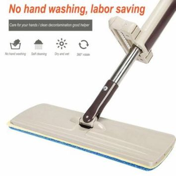 2017 New Lazy Hand wash-Free Flat Mop Wood Floor Household Supplies Hands-Free Telescopic Washable Mop Washing Floor Double-Side
