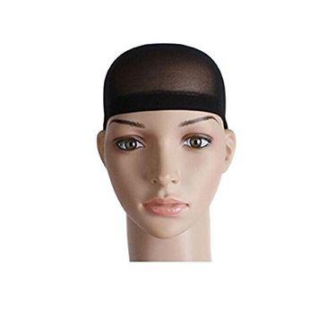 2 Pieces Black Soft Mesh Wig Caps Hair Cap for Wigs