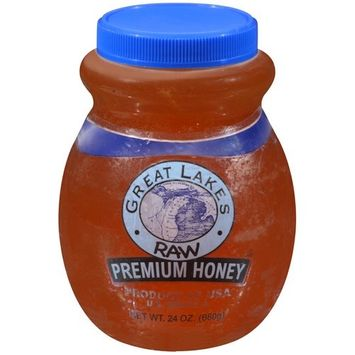 Great Lakes Raw Premium Honey, 24 oz