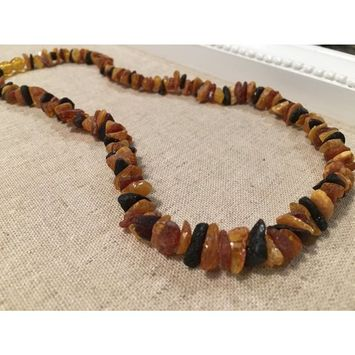Arthritis Carpal Tunnel Sciatica Pain Inflammation Raw 18 20 22 inch Necklace Unpolished Multi Baltic Amber Adult [name: actual_color value: actual_color-20