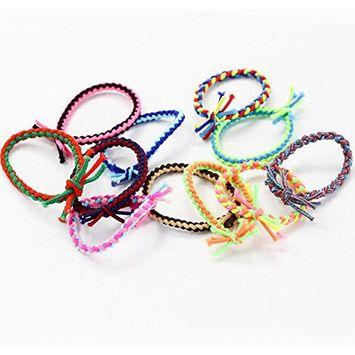 20 Pieces Braided Twist Knot Hair Elastic Hair Ties Hair Bands Bulk Ponytail Holders