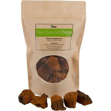 Sayan Siberian Pure Raw Chaga Mushroom Chunks with Black Top Crust 8 Oz / 227 g – Premium Quality 100% Wild Forest Harvested Super Antioxidant Tea, Supports Immune System, Heart & Liver Health