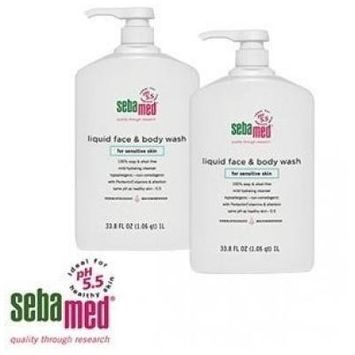 Sebamed Paraben-Free Liquid Face & Body Wash 33.8 Ounce (Pack Of 2)