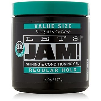 Lets Jam Condition and Shine Hair Gel, Regular Hold 397 g/14 oz by Let's Jam