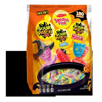 3.75 lb Sour Patch Kids and Swedish Fish Treat Size Variety Bag