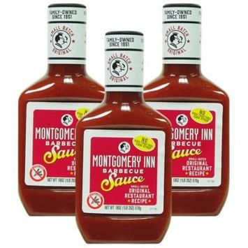 (3 Pack) Montgomery Inn Barbecue Sauce, 18 oz