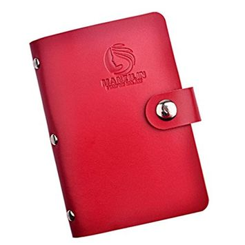 Bestpriceam 20 Slots Nail Art Stamp Plate Stamping Plates Holder Storage Bag Cases Stamp Bag Organizer (Red)