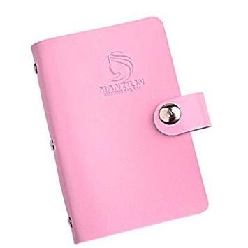 Bestpriceam 20 Slots Nail Art Stamp Plate Stamping Plates Holder Storage Bag Cases Stamp Bag Organizer (Pink)