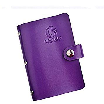Bestpriceam 20 Slots Nail Art Stamp Plate Stamping Plates Holder Storage Bag Cases Stamp Bag Organizer (Purple)