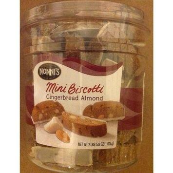Nonni's Mini Biscotti Gingerbread Almond 2 LBS 5.8 OZ