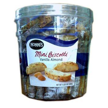 Nonni's Mini Biscotti Vanilla Almond 1 lb 8 oz.