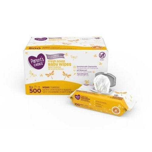 Parents Choice Fresh Scent Baby Wipes 500 Count