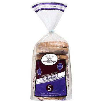 Western Bagel Original Recipe Blueberry Bagels, 5ct