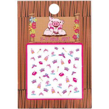 Piggy Paint - 3-D Nail Art Princess - 1 Sheets